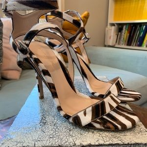 Gianvito Rossi animal print strappy sandals
